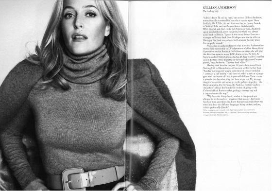 Gillian Anderson en Town Magazine